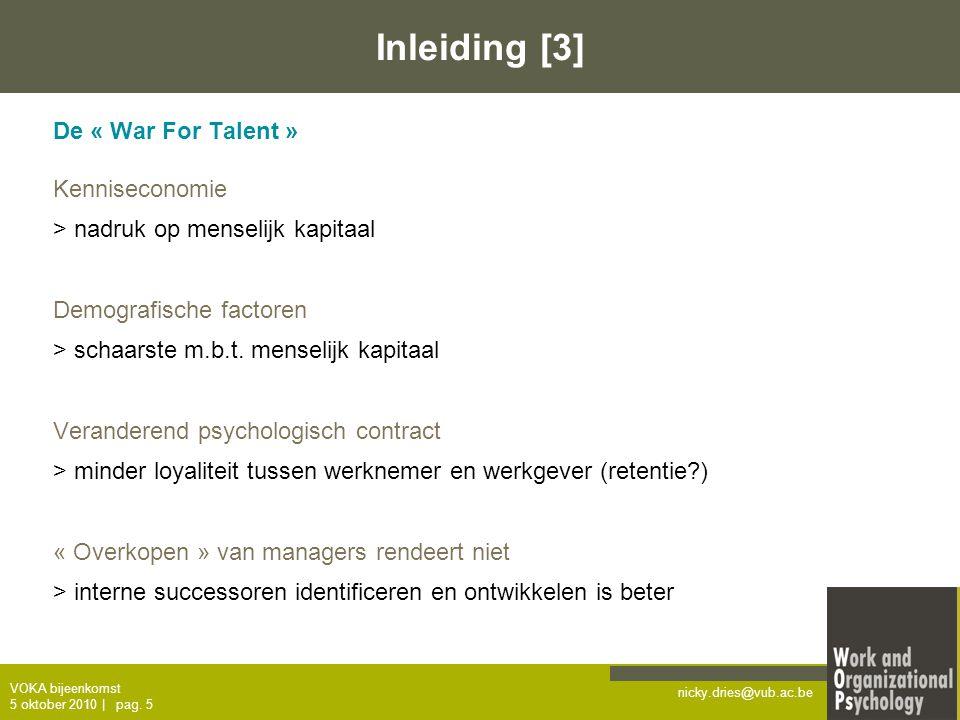 Inleiding [3] De « War For Talent » Kenniseconomie
